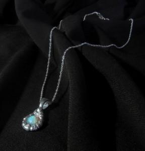 Lightning Ridge Crystal Opal Pendant -Australian Opal, Opal Necklace, Opal Pendant, Sterling Silver, Original Handcrafted Artisan Jewelry