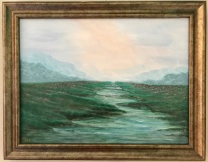 KJ's Art Studio | Mountain River - Original Painting by KJ Burk