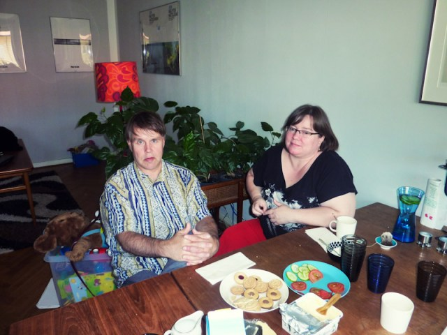 Ekki ja Tuula på besök