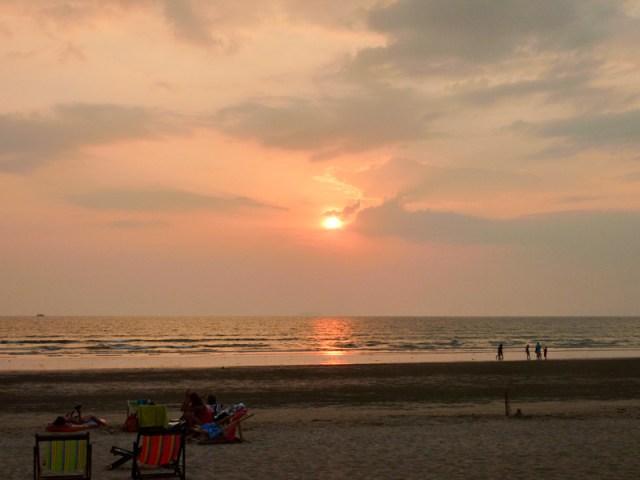 Vi testar den första solnedgången