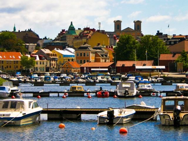 Karlskrona skärgård sett från ekholmen
