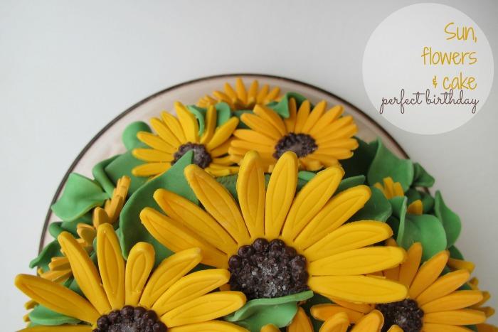 Geburtstag mit Sonnenblumen : ein Kuchen!