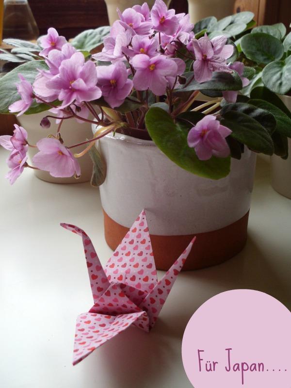 Origami Kraniche : wir denken an die Opfer von Fukushima!
