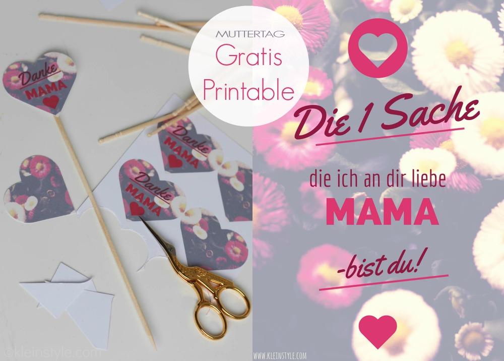 Muttertag : Sag Danke mit gratis Printables!
