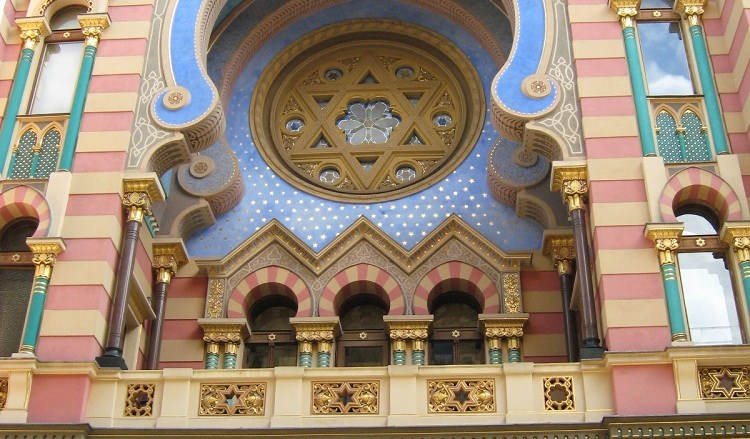 The Jeruzalem Synagogue in Prague, just one of the stops along the way