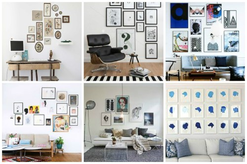 Medium Of Gallery Wall Layout
