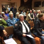 Members of the public at the Kodiak Island Borough Assembly regular meeting. Kayla Desroches/KMXT