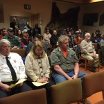 Members of the public at the beginning of the regular meeting. Kayla Desroches/KMXT