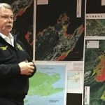 Chief Mullican speaks to the Kodiak Island Local Emergency Planning Committee. Kayla Desroches/KMXT