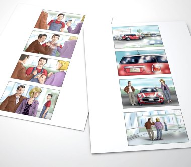 Carsten Knappe - Illustrator für Layout, Storyboard und Final Artwork