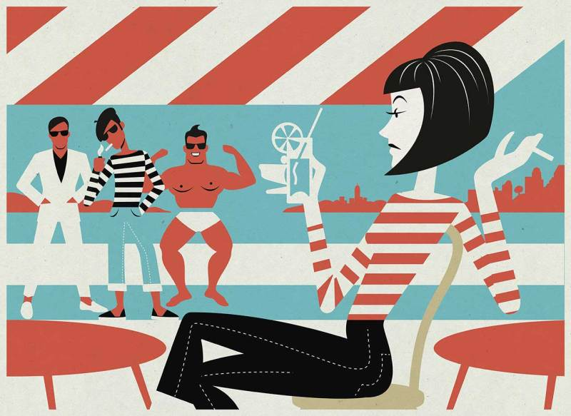Mid century style illustration , retro cool , Illustrator München