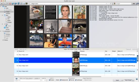 Outwit Hub screenshot