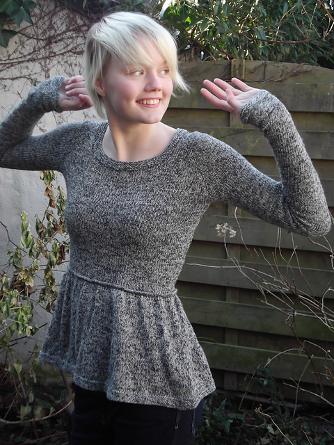Peplum Knitting Patterns : Modification Monday: Peplum Sweater - Knitted Bliss