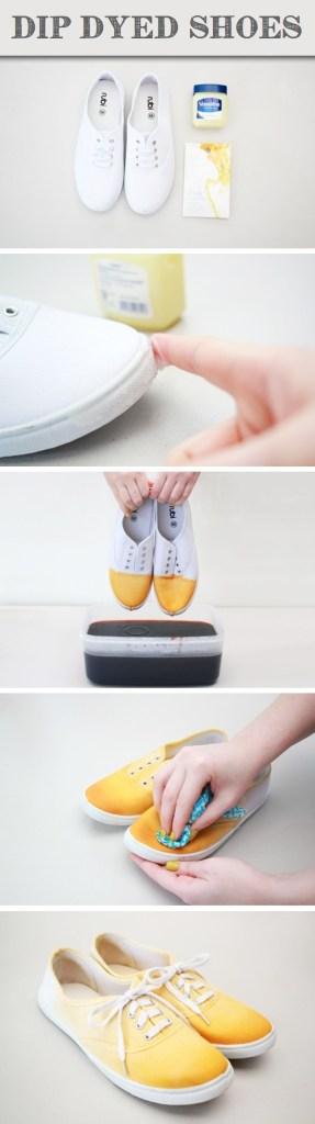 dip dye shoes: knittedbliss.com