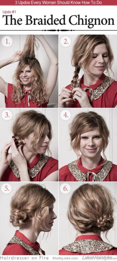Pin Ups: braided updo| knittedbliss.com