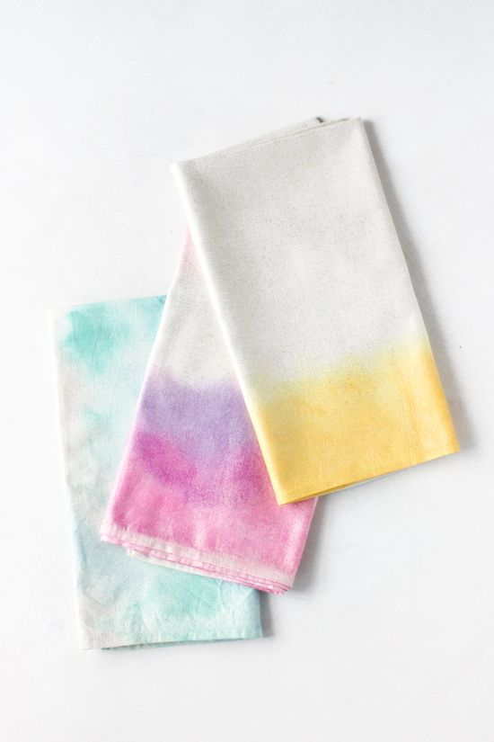Pin Ups: Watercolour Napkins|www.knittedbliss.com