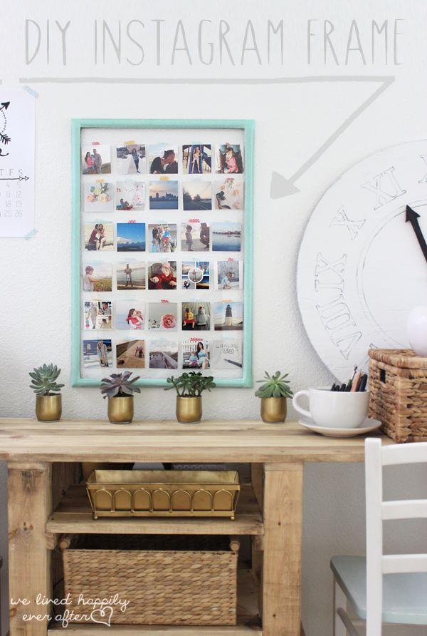 Pin Ups: DIY Instagram Frame| knittedbliss.com