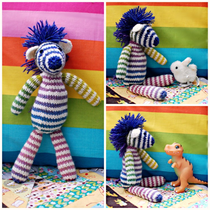 Finished Knit: Toy Zebra | knittedbliss.com