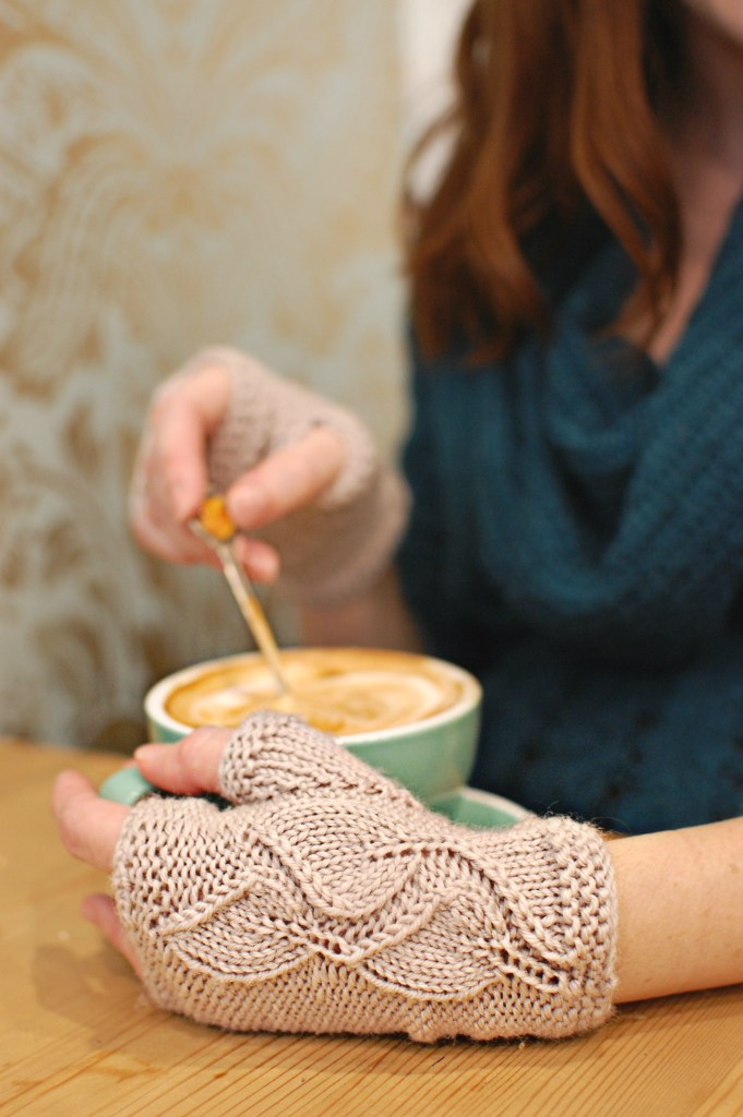 Finished Knit: Leave Me Not Mitts   knittedbliss.com