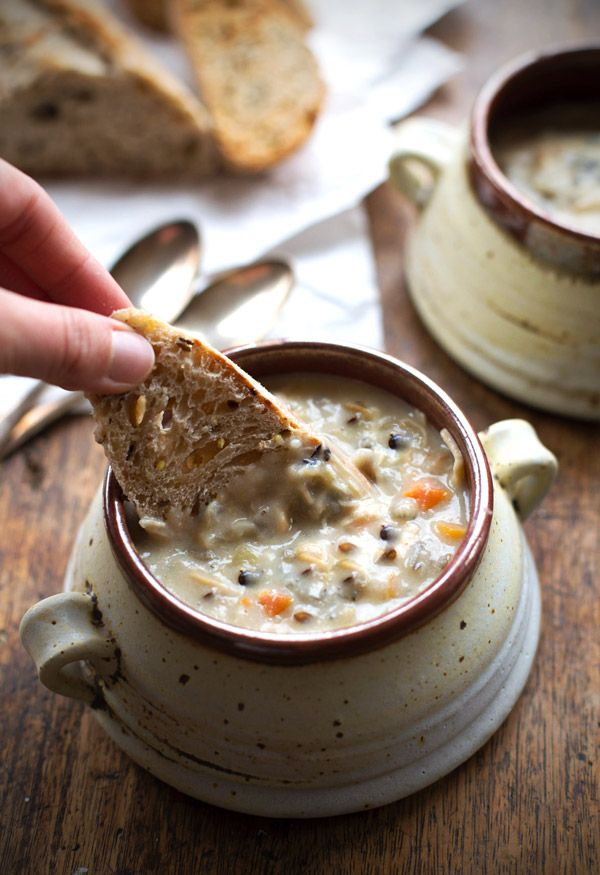 Pin Ups and Link Love: Crockpot Chiken and Wild Rice Soup | knittedbliss.com