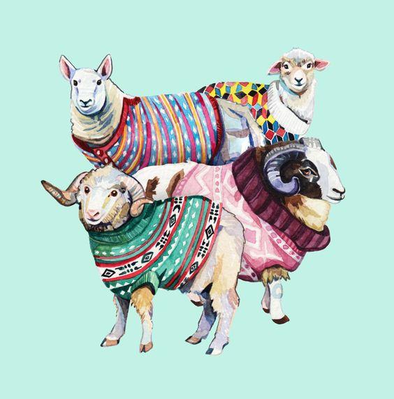 Pin Ups and Link Love: Sheep Print | knittedbliss.com
