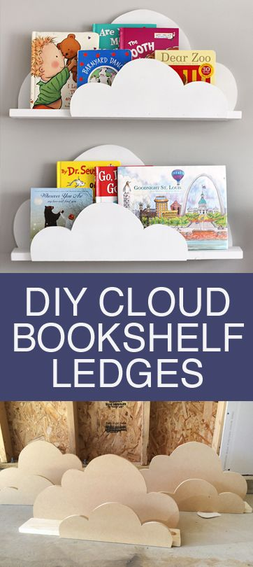 Pin Ups and Link Love: DIY Cloud Bookshelf | knittedbliss.com