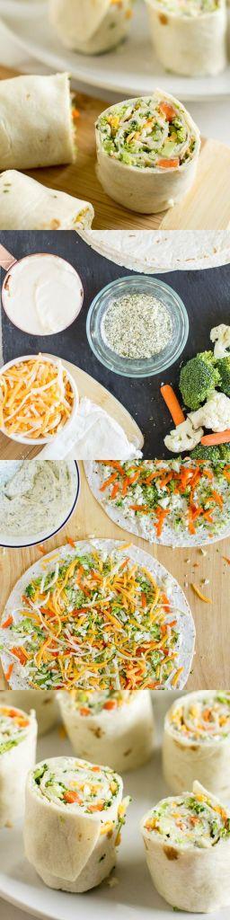vPin Ups and Link Love: Veggie Tortilla Roll Ups | knittedbliss.com