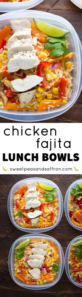 Pin Ups and Link Love: Chicken Fajita Bowls | knittedbliss.com
