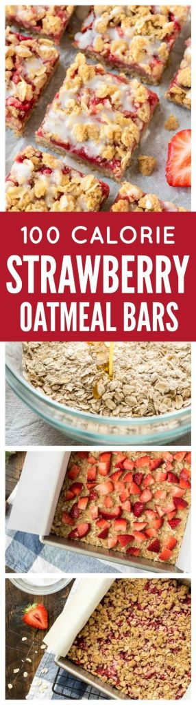 Pin Ups and Link Love: Strawberry oatmeal Bars | knittedbliss.com