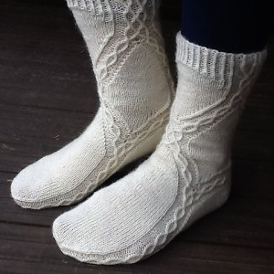 Modification Monday: A Different Stream Socks | knittedbliss.com