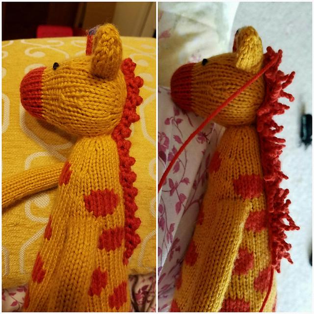 Modification Monday: Abanu the Giraffe | knittedbliss.com