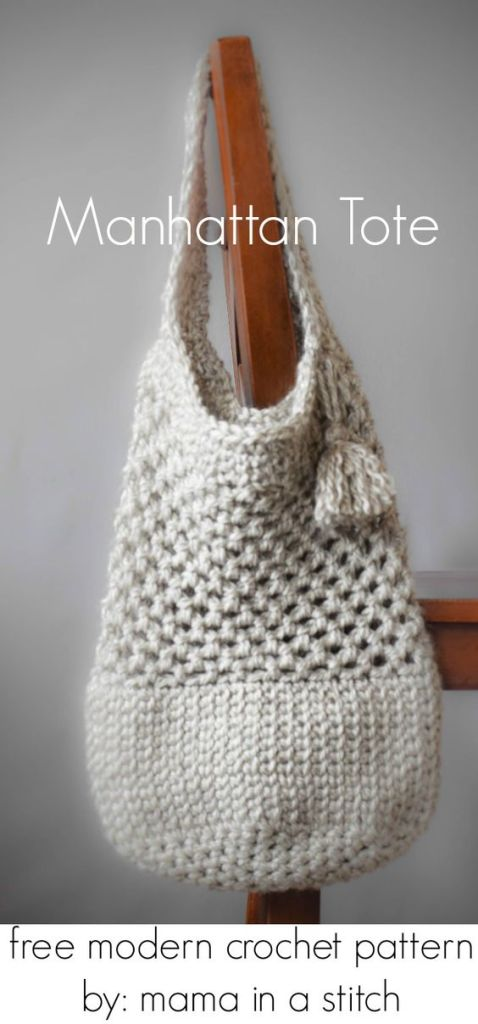 Pin Ups and Link Love: Crocheted Tote| knittedbliss.com