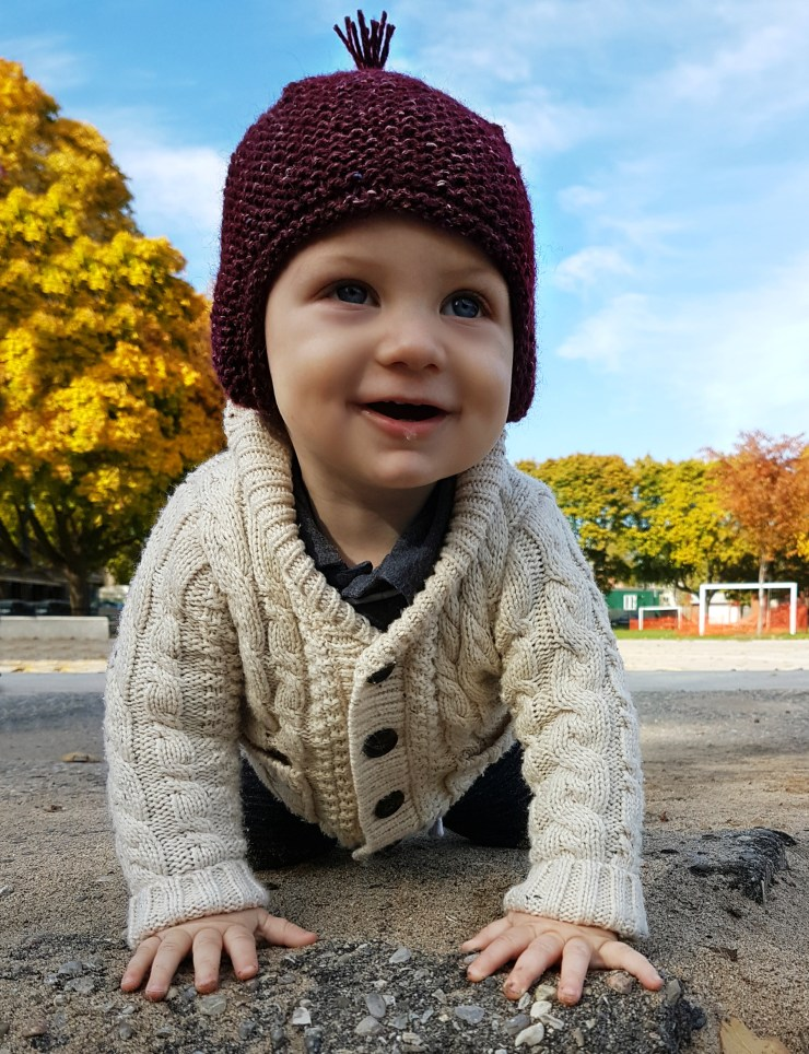 Finished Knit: Garter Ear Flap Hat | knittedbliss.com