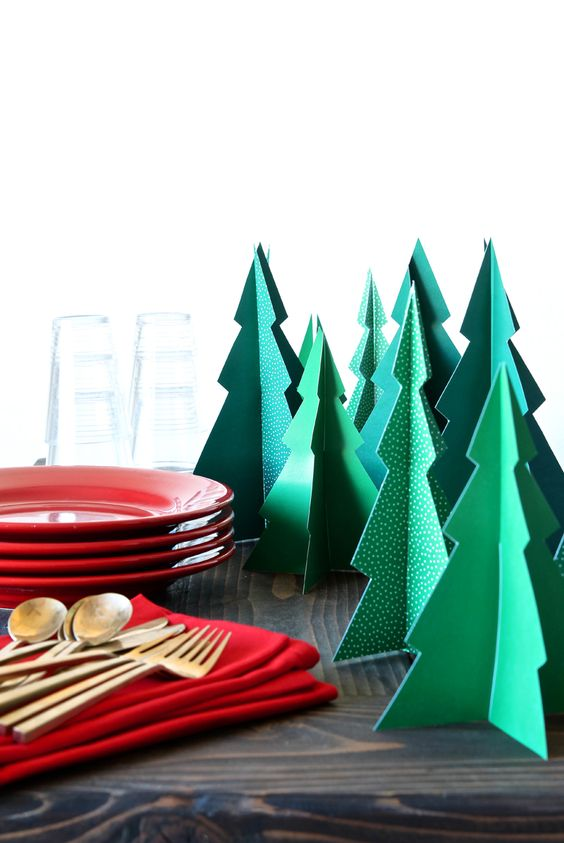 Pin Ups and Link Love: Tabletop Paper Trees | knittedbliss.com