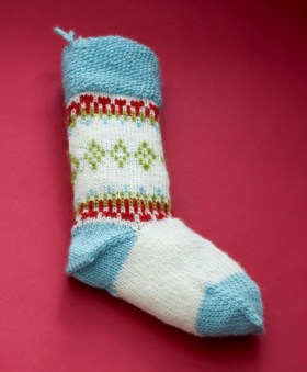 fair isle stocking