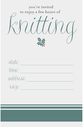 knitting party invitation