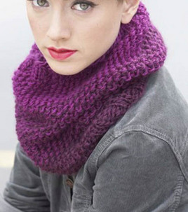 Free Pattern: Fader Seed Stitch Ombre Cowl   Knitting