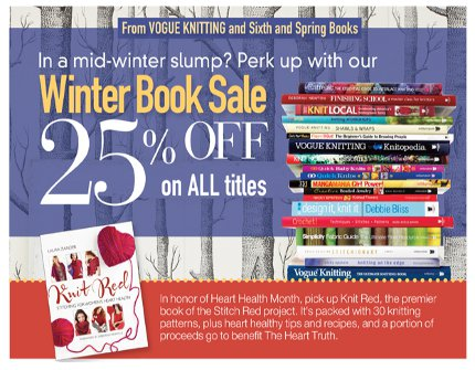 vogue knitting book sale