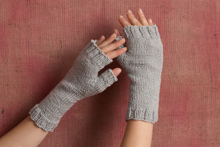 Gift-Knitting Idea Ava Mitts from Classic Elite