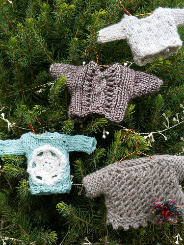 Knit Pattern Sweater Ornament : Merry Christmas from Berroco (and Me!)   Knitting