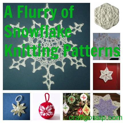 snowflake knitting patterns