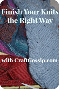 finishing knits