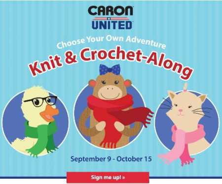 Join Caron United for a choose your own adventure knitalong