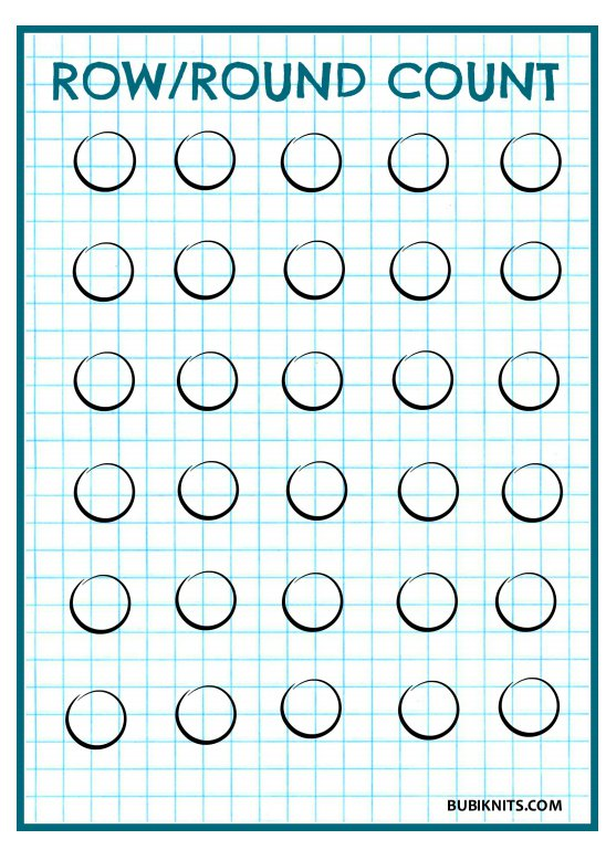 Download a free row/round counter printable