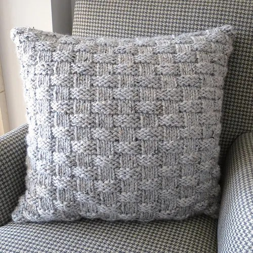Christmas Stocking Knitted Patterns : Knit a Simple Basketweave Pillow to Cozy Up Your Home   Knitting