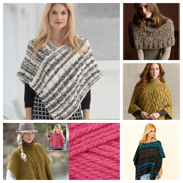 Knitting Pattern For Easy Poncho : Pretty Ponchos to Knit   Knitting