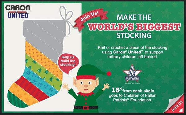 worlds largest stocking caron united