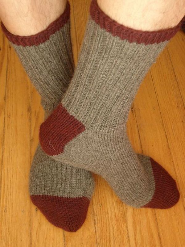 Toe Up Knitted Sock Pattern Free : 8 Cozy Sock Patterns for HIM   Knitting
