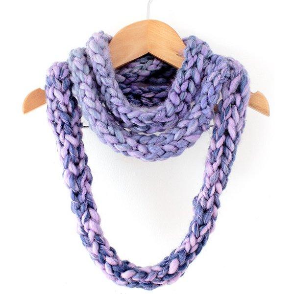 finger knit cowl pattern