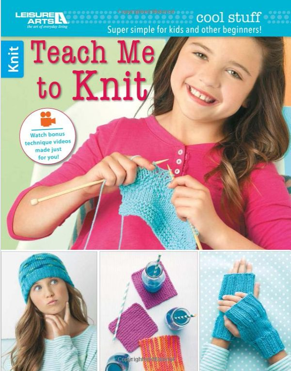 teach me to knit by leisure arts